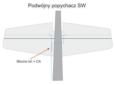 Budowa ESA - Podwójny popychacz steru wysokości